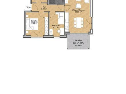Neubauprojekt: Klasse Erdgeschosswohnung
