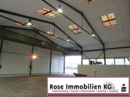 ROSE IMMOBILIEN KG: 8t Kranbahn - Kaltlager- / Produktionhalle in Rinteln ca. 300m²