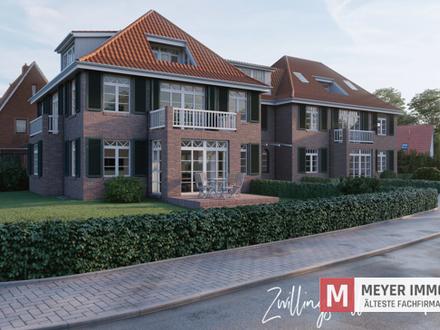 Nur noch eine Wohnung frei! Moderne Zwillingsvillen im alten Rasteder Ortskern (Objekt-Nr.: 5938)