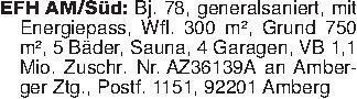 EFH AM/Süd: Bj. 78, generalsan...