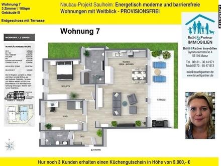 KFW55 - 3 Zimmer, 105qm, Terrasse und Aufzug in die TG - Saulheimer Talblick