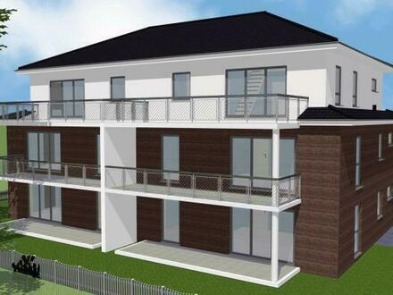 Neubau-Mehrparteienhaus mit sechs Wohneinheiten und Fahrstuhl im Haus. Wohnung Nr. 1 im Erdgeschoss