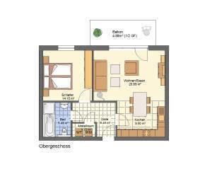Besonders für Paare und Singles - Whg. 3 - OG-Lifestyle-Wohnung - Neubau KfW55-Wohnanlage Petershagen