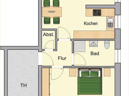 Vermietung - Moderne Erdgeschoss-Wohnung mit Terrasse in Borken