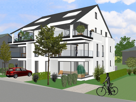 Neubau-Erdgeschosswohnung in Überlingen, 3,5 Zimmer Wohnung in Seenähe Bezug 10/2021