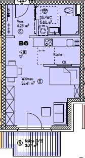 Das besondere Angebot (60+) Erstbezug! Barrierefreie 1 Zimmerwohnung