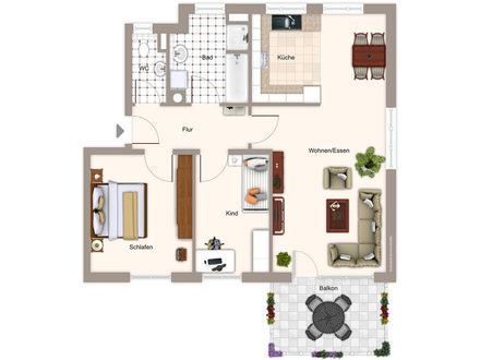 Schöne, helle 3-Zimmer-Wohnung mit Balkon in Biberach »Am Gaisental«