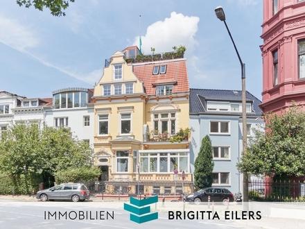 Citylage - Exklusiv ausgestattete Wohnung in Alt-Bremer Villa mit Weserblick und gemeinschaftlicher Dachterrasse!