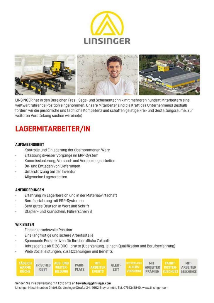 LINSINGER hat in den Bereichen Fräs-, Säge- und Schienentechnik mit mehreren hundert Mitarbeitern eine weltweit führende Position eingenommen. Unsere Mitarbeiter sind die Kraft des Unternehmens! Desha