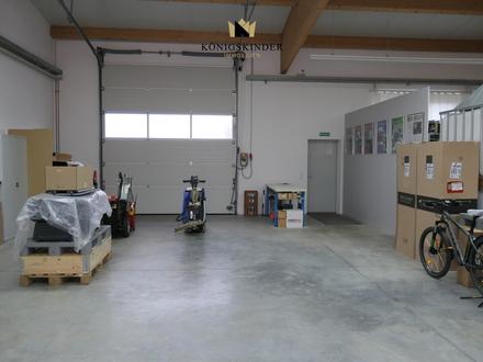 Gewerbeobjekt für Produktion, Lager u. Ausstellung mit Bauplatz