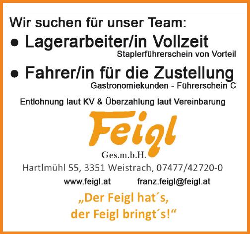 Wir suchen für unser Team: Lagerarbeiter/in Vollzeit Fahrer/in für die Zustellung