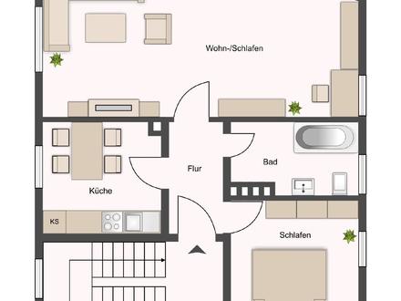Gr. Wohnküche, zwei Zimmer, Aaseenähe!