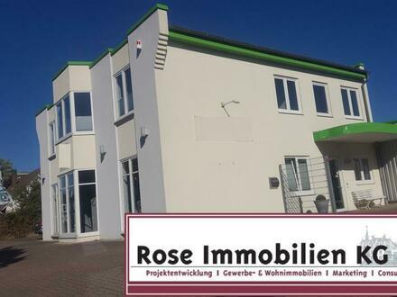 ROSE IMMOBILIEN KG: TOP-Bürogebäude mit Ausstellung und Lagerhalle!