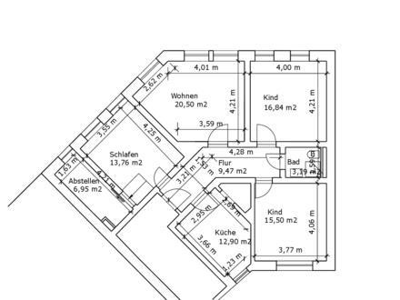 Sanierte 4-Zimmer-Wohnung im Erdgeschoss im beliebten Johannesviertel von Darmstadt