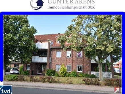 möblierte 2 Zimmer-Oberwohnung mit Balkon in zentraler Wohnlage in Edewecht