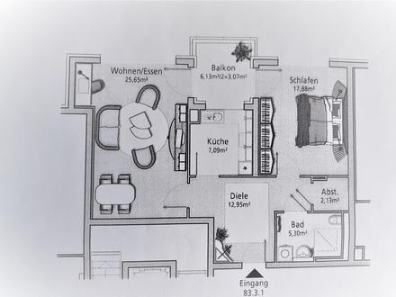 2,5 Zimmer Senioren-Service-Wohnung