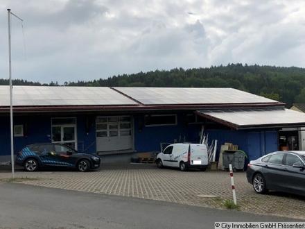 Lagerfläche mit Büroräumen, LKW Laderampe, zwei Fertiggaragen und einer Photovoltaikanlage!