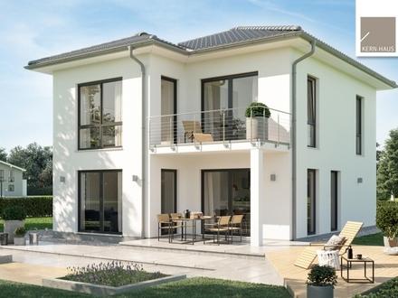 Familientaugliche Stadtvilla mit Balkon und überdachter Terrasse! (inklusive Grundstück)