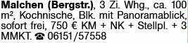 3-Zimmer Mietwohnung in Malchen (64342)