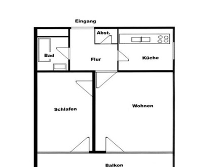 Helle 2 Zimmer-Wohnung beim Schwabencenter...vermietet!