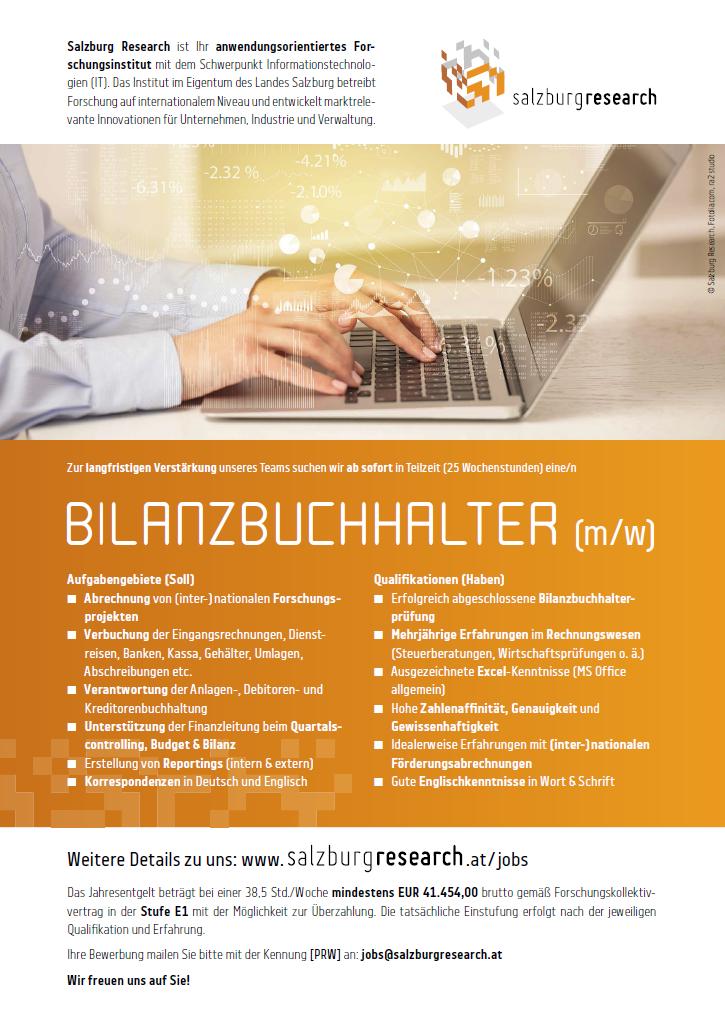 Salzburg Research ist Ihr anwendungsorientiertes Forschungsinstitut mit dem Schwerpunkt Informationstechnologien (IT). Das Institut im Eigentum des Landes Salzburg betreibt Forschung auf international