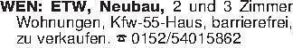 WEN: ETW, Neubau, 2 und 3 Zimm...