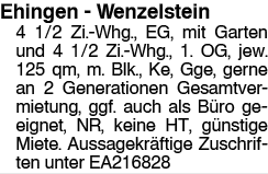 Ehingen Wenzelstein