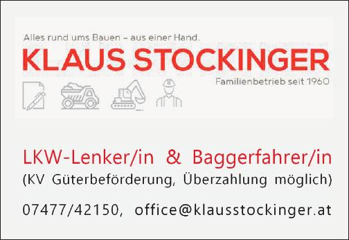 LKW-Lenker/in & Baggerfahrer/in (KV Güterbeförderung, Überzahlung möglich)