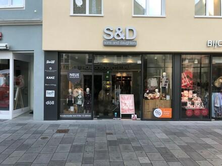Exklusive Einzelhandelsfläche in bester Einkaufslage von Memmingen zu vermieten.