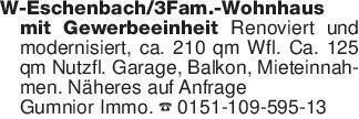 W-Eschenbach/3Fam.-Wohnhaus mi...