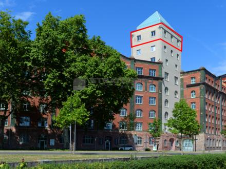 Walzmühle Ludwigshafen: Büroausblick über Ludwigshafen bis nach Mannheim
