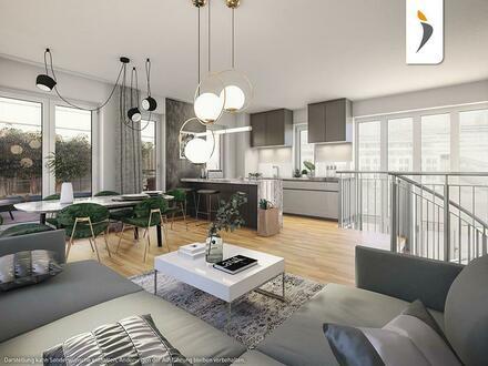 Alle guten Dinge sind drei: 3-Zimmer-Wohnung über zwei Etagen mit drei Dachterrassen