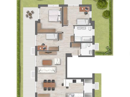 Exclusive Erdgeschoßwohnung mit 128 m² Wohnfläche