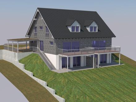 Zweifamilien-Wohnhaus mit Carport