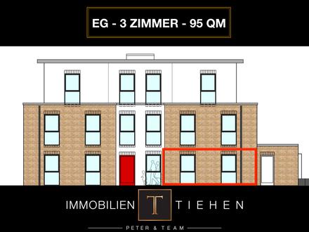 Provisionsfrei: Neubau in der Neustadt - Erdgeschosswohnung in Zentrumsnähe! 3 Zi., KfW 55, 95 qm!