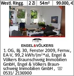 Westl. Ringg. 2 Zi 54m² 99.000,-€ 1. OG, Bj. 30, Fenster 2009, Fernw.,...