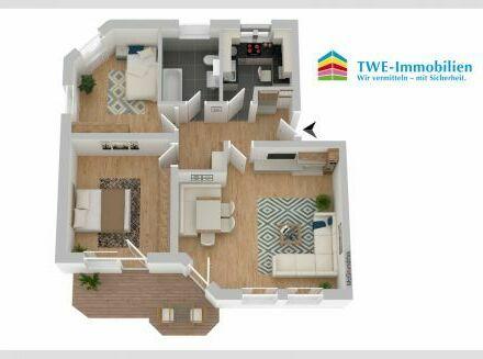 Gepflegte Wohnung mit Terrasse und großem Gartenanteil in Lauingen