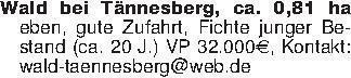 Wald bei Tännesberg, ca. 0,81...