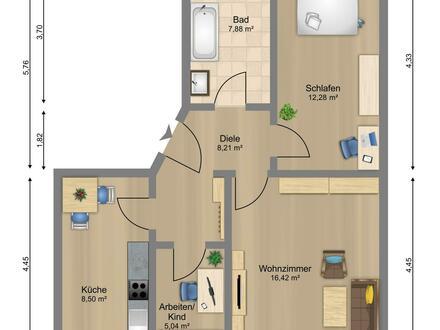 3 Zimmer Wohnung! Alles Saniert.