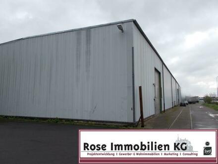ROSE IMMOBILIEN KG: Kaltlagerhallen gute Deckenhöhe 7,40 m mit 2x Rolltor!