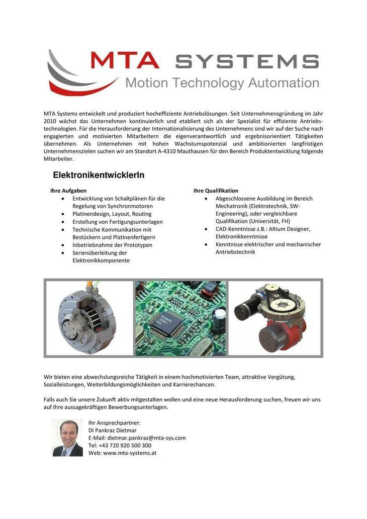 MTA Systems entwickelt und produziert hocheffiziente Antriebslösungen. Seit  Unternehmensgründung im Jahr 2010 wächst das Unternehmen kontinuierlich und etabliert sich als der Spezialist für