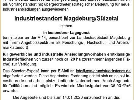 Immobilienausschreibung im Industriestandort Magdeburg/Sülzetal