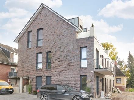 Ab sofort: Neubau mit Liebe zum Detail, kompletter Einbauküche sowie Stellplatz und herrl. Balkon!