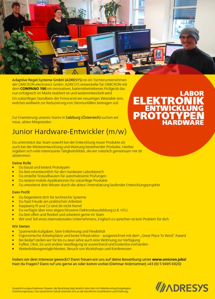 Adaptive Regel-Systeme GmbH (ADRESYS) ist ein Tochterunternehmen der OMICRON electronics GmbH. ADRESYS entwickelte für OMICRON mit dem COMPANO 100 ein innovatives, batteriebetriebenes Prüfgerät das nu