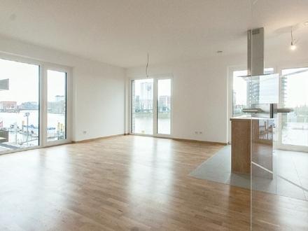 Lichtdurchflutete 3-Zimmer-Neubau-Wohnung mit direktem Blick auf die Weser