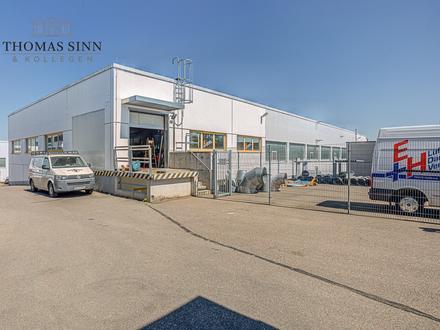 GEWERBE m²: Lagerhalle im Hochparterre und Außenfreifläche für Handelsbetrieb
