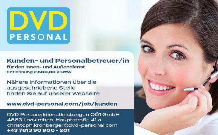 Kunden- und Personalbetreuer/in für den Innen- und Außendienst Entlohnung 2.500,00 brutto