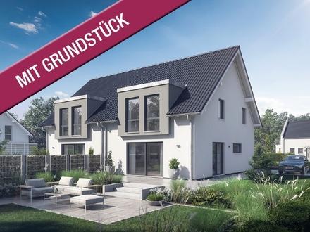 Moderne Doppelhaushälfte für beste Nachbarschaft (inkl. Grundstück & Baunebenkosten)