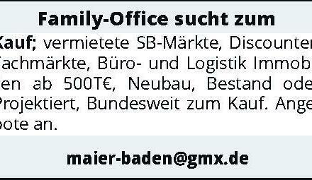 Family-Office sucht zum Kauf
