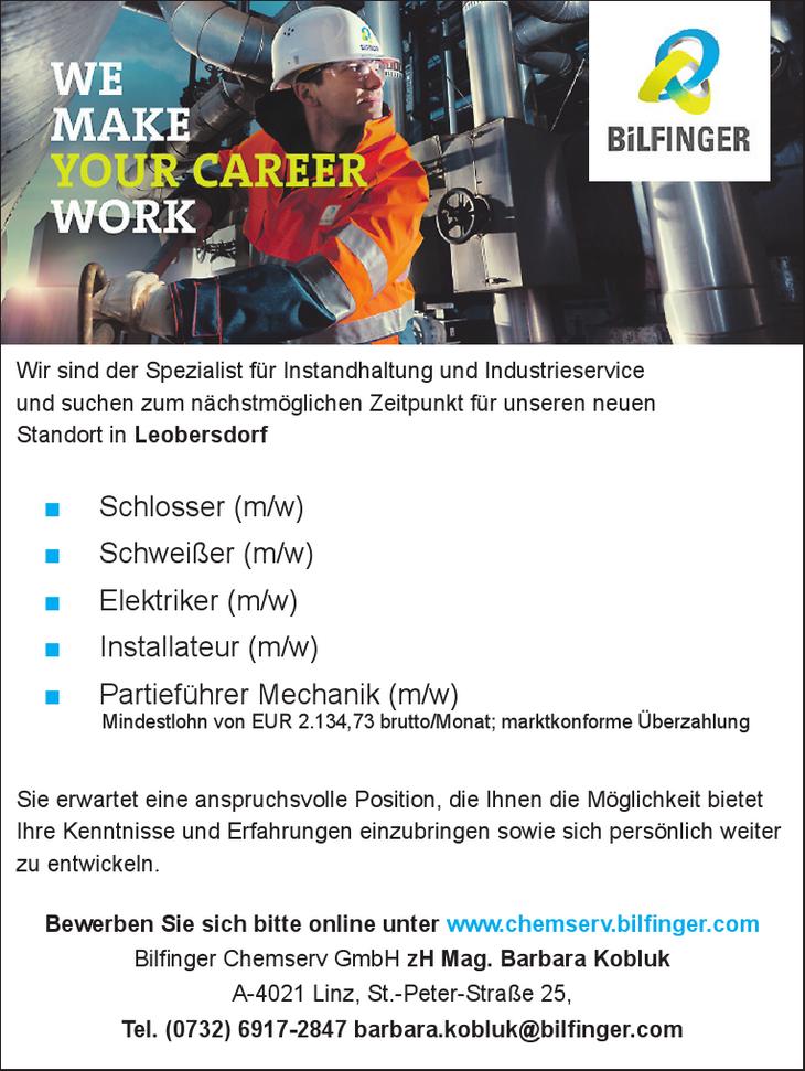 Wir sind der Spezialist für Instandhaltung und Industrieservice und suchen zum nächstmöglichen Zeitpunkt für unseren neuen Standort in Leobersdorf